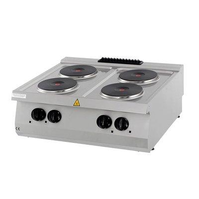 Maxima Heavy Duty Table de Cuisson- 4 Brûleurs - Électrique