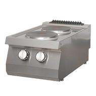 Maxima Heavy Duty Table de Cuisson - 2 Brûleurs - Électrique