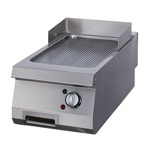 Maxima Heavy Duty Griddle Grooved Chrome - Single - Electric