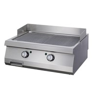 Maxima Heavy Duty Griddle Grooved Chrome - Double - Electric