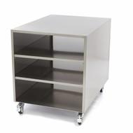 Maxima Edelstahl Maschinentisch / Rahmen auf Rädern 60 x 80 cm