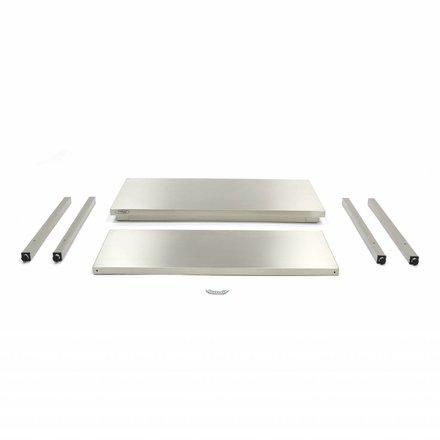 Maxima Gastro Arbeitstisch - 800 x 700 mm tief - Edelstahl - 150 bis 200 kg