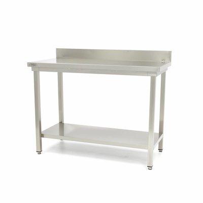 Maxima Roestvrijstalen Werktafel 'Deluxe' met achteropstand 600 x 700 mm