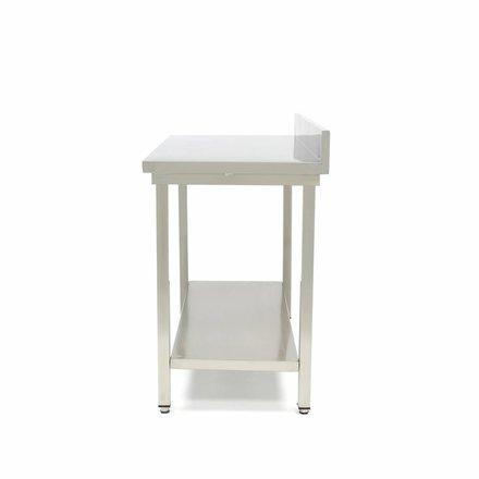 Maxima Gastro Arbeitstisch mit Aufkantung - 600 x 700 mm tief - Edelstahl - 150 bis 200 kg