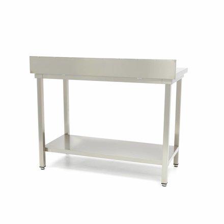 Maxima Gastro Arbeitstisch mit Aufkantung - 800 x 700 mm tief - Edelstahl - 150 bis 200 kg