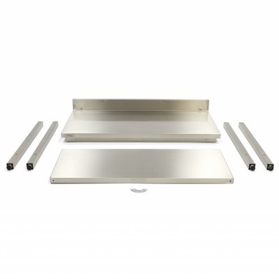 Maxima Roestvrijstalen Werktafel 'Deluxe' met achteropstand 800 x 700 mm