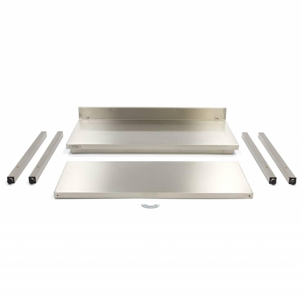 Maxima Acciaio inossidabile Workbench 'Deluxe' 1000 x 700 ...