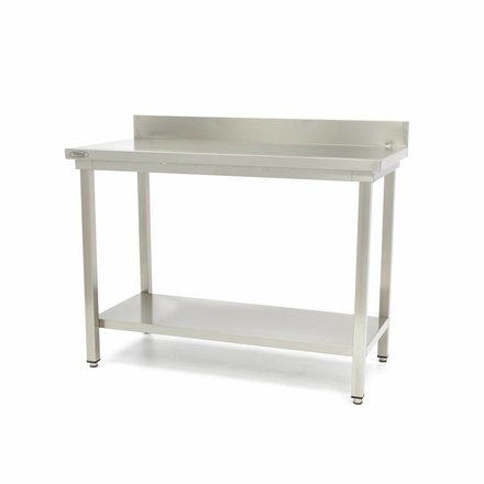 Maxima Stainless Steel Workbench 'Deluxe' 1400 x 700 mm with backsplash
