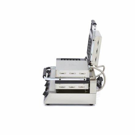Maxima Gastro Waffeleisen Klassisch - 5 x 3 - 2 Stück - 100 x 25 x 164 mm (je Waffel) - 3200 Watt