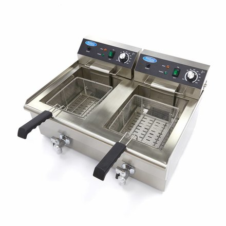 Maxima Electric Fryer 2 x 16L with Faucet