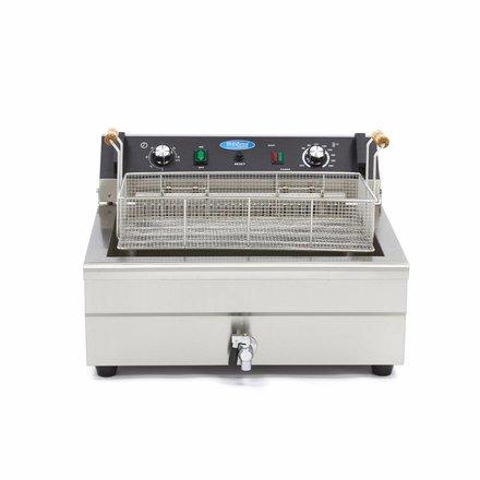 Maxima Backwaren-Fritteuse - Elektrisch - 1 x 27 l Behälter - 1 x 20 l Öl - mit Kaltzone und Ablasshahn - 4500 Watt