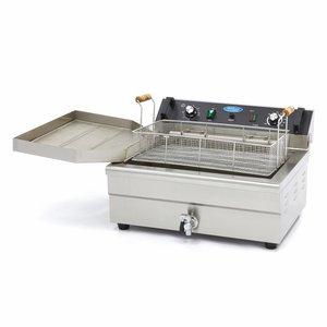 Maxima Bakkerij Friteuse / Horeca Frituurpan 1 x 20L Elektrisch met Tapkraan