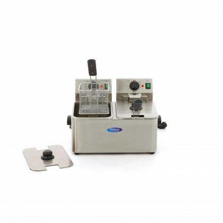 Maxima Gastro Fritteuse - Elektrisch - 2 x 8 l Behälter - 2 x 4 l Öl - mit Kaltzone - 2 x 2500 Watt