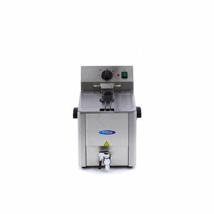 Maxima Gastro Fritteuse - Elektrisch - 1 x 10,5 l Behälter - 1 x 8 l Öl - mit Ablasshahn und Kaltzone - 3250 Watt