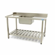 Maxima Dishwasher Inlet Table with Sink 1400 x 750 mm Left