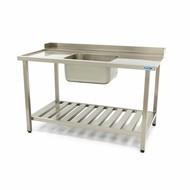 Maxima Spülmaschinen Tisch mit Spüle 1400 x 750 mm Links