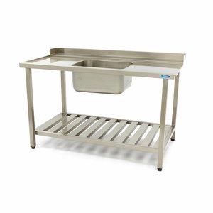 Maxima Spülmaschinen Tisch mit Spüle 1200 x 750 mm Links