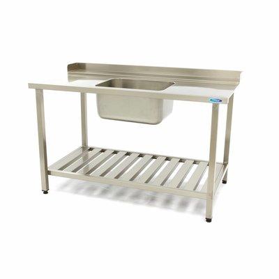 Maxima Lave-Vaisselle Table d'entrée avec Évier Droit 1400 x 750 mm