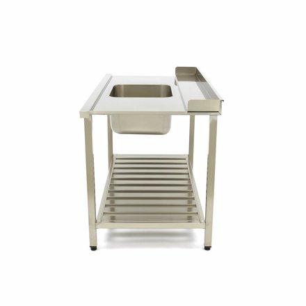 Maxima Spülmaschinen Tisch mit Spüle 1200 x 750 mm Rechts