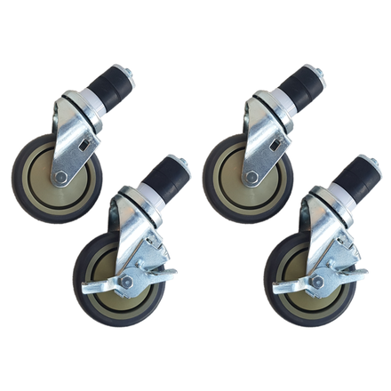 Maxima WT SQ Wheels set of 4 - 2 with brakes - 4 Inch / 10.2 cm