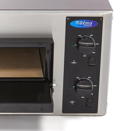 Maxima Gastro Pizzaofen - 4 x 25 cm - 4 Pizzen - 50 bis 500 °C - 4000 Watt - 400 V