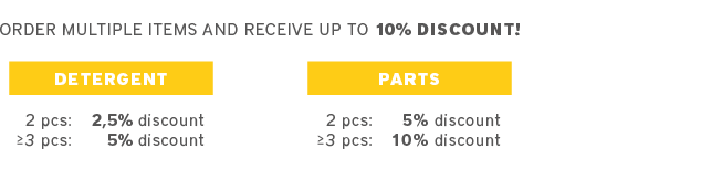 discount on parts