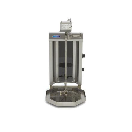 Maxima Döner Kebab / Gyros / Shawarma Grill - 2 Brenner - Elektrisch - 20 kg - Motor an der Spitze - 3400 Watt