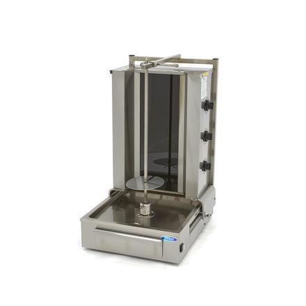 Maxima Döner Kebab / Gyros / Shawarma Grill - 3 Brenner - Elektrisch - 30 kg - Motor am Boden - 5100 Watt
