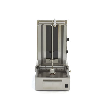 Maxima Döner Kebab / Gyros / Shawarma Grill - 2 Brenner - Elektrisch - 20 kg - Motor am Boden - 3400 Watt
