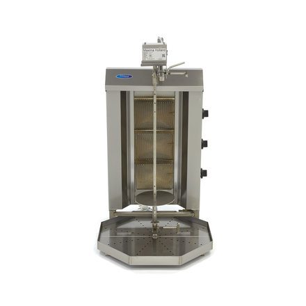 Maxima Döner Kebab / Gyros / Shawarma Grill - 3 Brenner - Gas - 30 kg - Motor an der Spitze - 9960 Watt