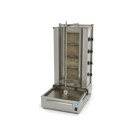 Maxima Döner Kebab / Gyros / Shawarma Grill - 4 Brenner - Gas - 70 kg - Motor am Boden - 13280 Watt