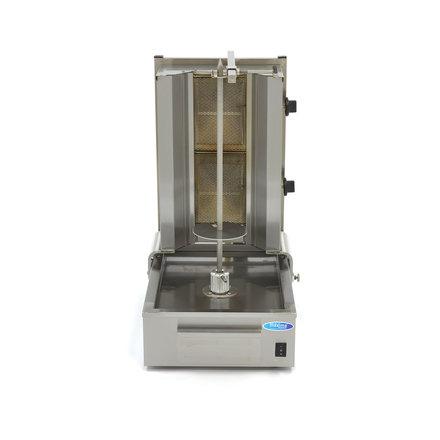 Maxima Döner Kebab / Gyros / Shawarma Grill - 2 Brenner - Gas - 20 kg - Motor am Boden - 6640 Watt