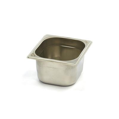 Maxima Gastronormbehälter aus Edelstahl 1/6GN   100mm   176x162mm