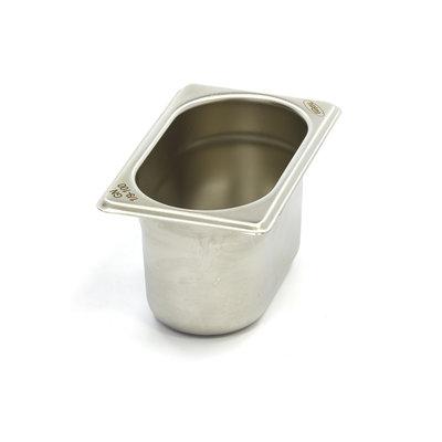 Maxima Gastronormbehälter aus Edelstahl 1/9GN | 100mm | 176x108mm