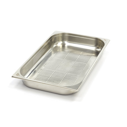 Maxima Stainless Steel Perforated GN Container 1/1GN   65mm   530x325mm
