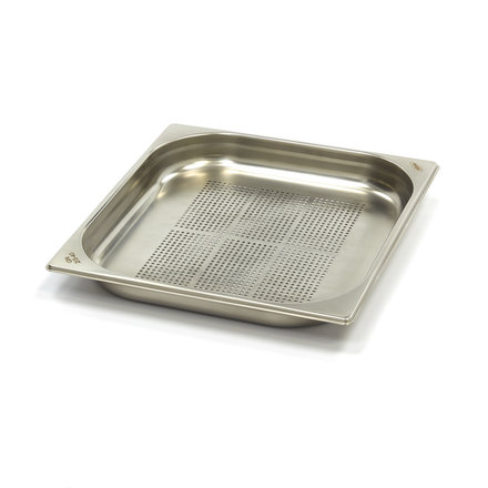 Maxima Stainless Steel Perforated GN Container 2/3GN   40mm   325x354mm