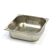 Maxima Stainless Steel Perforated GN Container 2/3GN | 100mm | 325x354mm