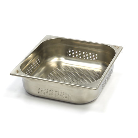 Maxima Stainless Steel Perforated GN Container 2/3GN   100mm   325x354mm