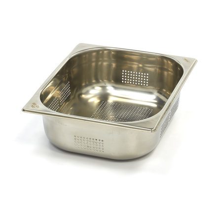 Maxima Stainless Steel Perforated GN Container 1/2GN   100mm   325x265mm