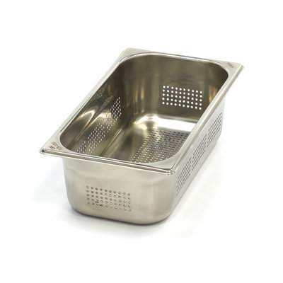 Maxima Stainless Steel Perforated GN Container 1/3GN   100mm   325x176mm