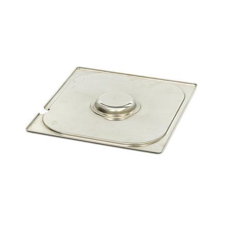 Maxima Gastronorm Deckel aus Edelstahl 2/3GN | Mit Aussparung