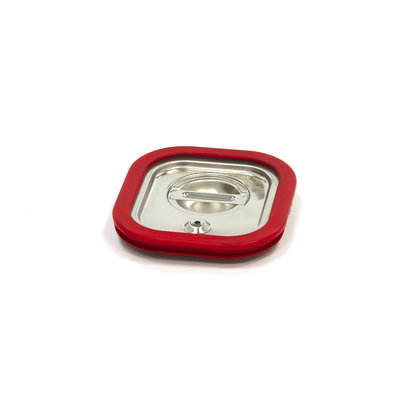 Maxima Gastronorm Deckel aus Edelstahl 1/6GN | Luftdichte Dichtung