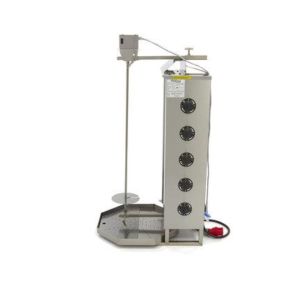 Maxima Döner Kebab / Gyros / Shawarma Grill - 5 Brenner - Elektrisch - 80 kg - Motor an der Spitze - 8500 Watt