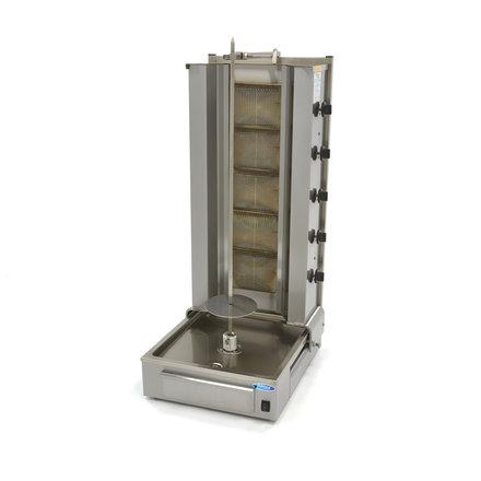 Maxima Döner Kebab / Gyros / Shawarma Grill - 5 Brenner - Gas - 100 kg - Motor am Boden - 16600 Watt