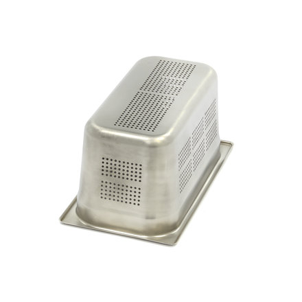Maxima Stainless Steel Perforated GN Container 1/3GN | 150mm | 325x176mm