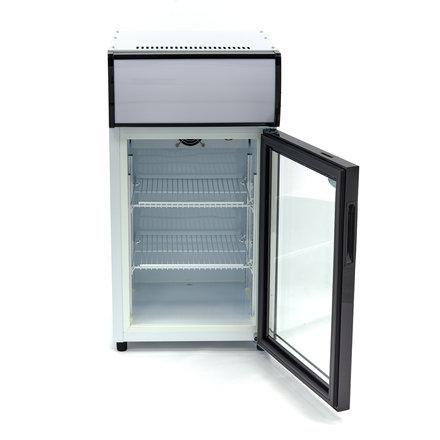 Maxima Displaykühlschrank / Dosenkühlschrank - 50 l - 0 bis 10 °C - mit 1 Drehtür - 120 Watt