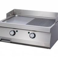 Maxima Heavy Duty Griddle 1/2 Grooved Chrome - Double - Gas