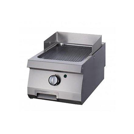 Maxima Gastro Grillplatte Einzel - Chrom - Gerillt - Gas - 400 x 700 mm tief - mit Spritzschutz - 7000 Watt - Heavy Duty