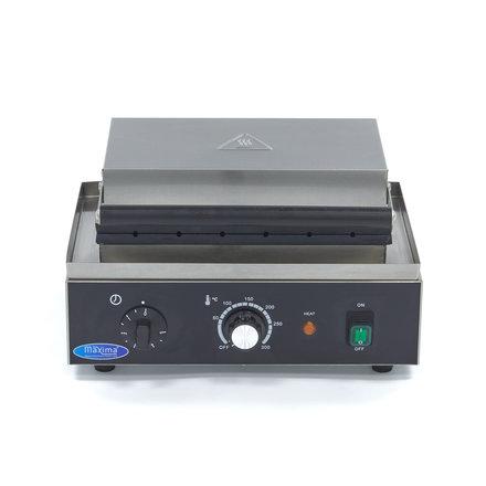Maxima Gastro Waffeleisen Corn Dog und Hot Dog am Stiel - 6 Stück - ca. 140 x 30 x 40 mm - mit Timer - 1750 Watt