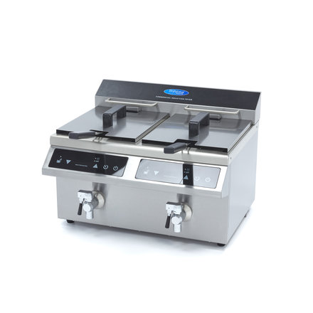 Maxima Induction Fryer / Induction Deep Fryer 2 x 8L with Faucet